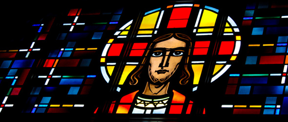 Stained Glass window at Our Savior's in La Crosse