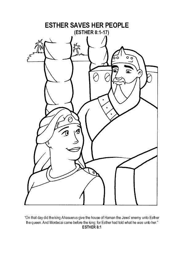 Esther Printable Coloring Pages